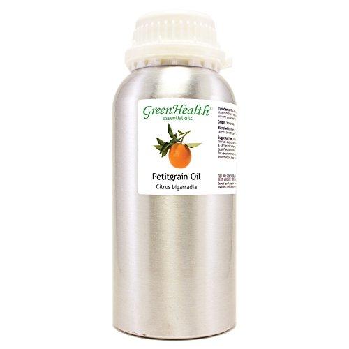 Petitgrain – 16 fl oz (473 ml) Aluminum Bottle w/Plug Cap – 100% Pure Essential Oil – GreenHealth