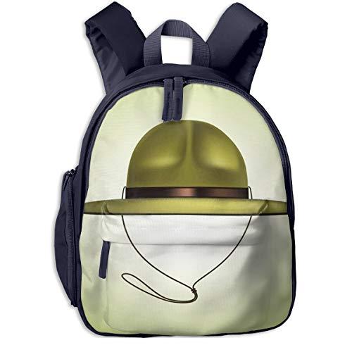 Kinderrucksack Kleinkind Jungen Mädchen Kindergartentasche Khaki Pfadfinderhut Backpack Schultasche Rucksack
