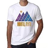 Hombre Camiseta Vintage T-Shirt Gráfico Mountain Himalaya Blanco