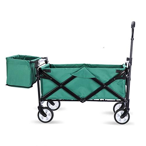 Carro plegable para uso general, carro plegable con bolsillo trasero, carro de jardín de gran capacidad, perfecto para festivales / camping, barbacoa, jardinería