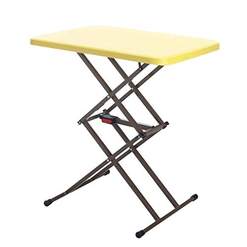 Folding Laptop Tabel ontbijt met Bed Pallets, verstelbare Foldable Met Flip Top en benen Computer Desk Stand (Color : Yellow)