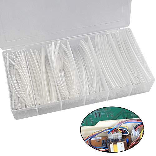 AFASOES 150 Stück Schrumpfschlauch Transparent Durchsichtig mit Sortiment Box Heat Shrink Tube Clear Schrumpfrate 2:1 Schrumpfschläuche Sortiment für Auto Elektrokabel Draht 6 Größe (Ø 1,5 mm-10,0 mm)