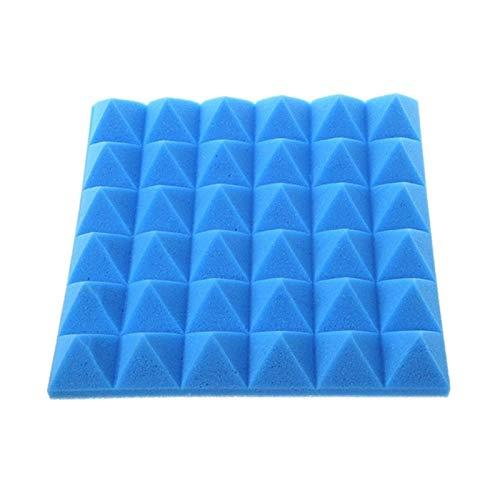 SZHXH 30x30x5cm Espuma acústica Paneles Paneles de Sonido acústico Tratamiento absorción de cuña Poliuretano Espuma (Color : Blue)