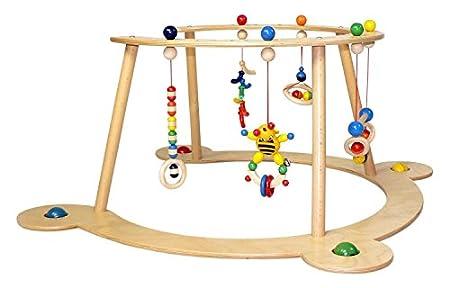 Hess Holzspielzeug - Lauflerngerät und Spielbogen aus Holz