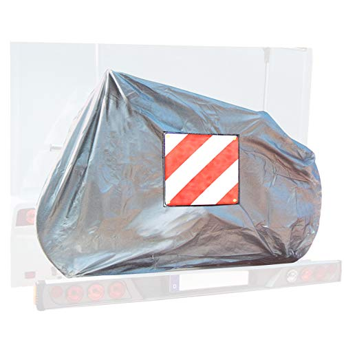 deiwo Fahrradschutzhülle für 2 Fahrräder, Warntafel-Einschubtasche, Oxford Gewebe, Gummizug, extra stabil + Warntafel Aluminium für Italien