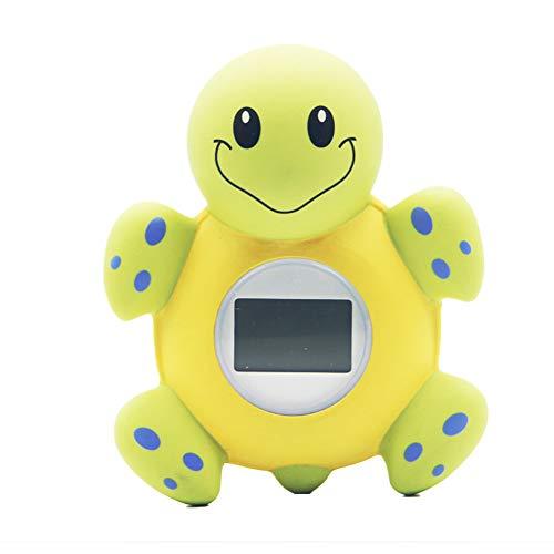 Hieefi Badethermometer Und Uhr, Badethermometer, Babyparty-digital-Thermometer Badewanne Spielzeug Karikatur-schildkröte-Form Mit Fahrenheit Celsius Für Kleinkinder