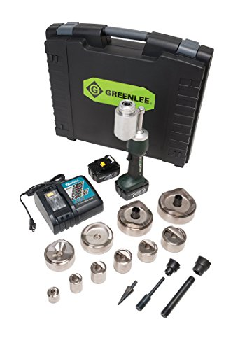 Greenlee LS100L11SB4SP Punch Set Kit with 1/2 to 4-Inch Mild Steel Speed Punch
