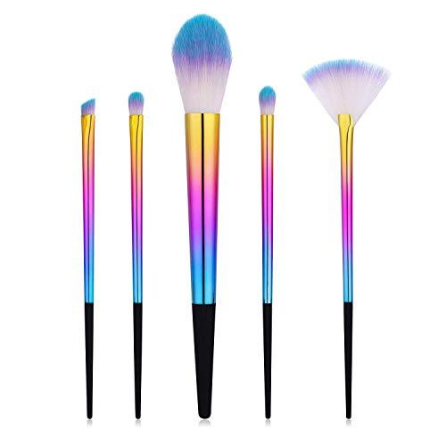 JFFFFWI Ensemble de pinceaux de Maquillage Professionnel avancé - pour Le Fond de Teint mélange Poudre pour Le Visage Blush Contour Fard à paupières Pinceau de Maquillage (Couleur: B)