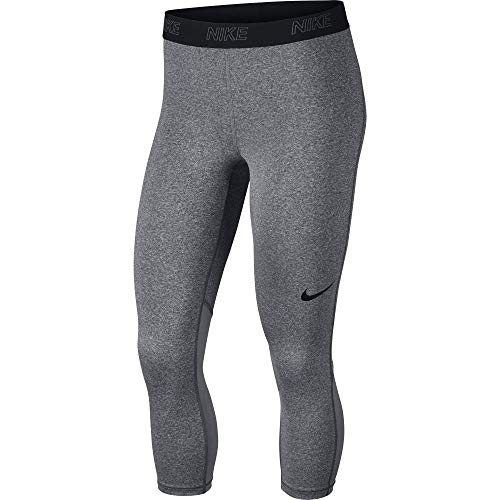 Nike Victory Baselayer Pantalόn 3/4, Mujer, Gris (Carbon Heather/Cool Grey/Black), L