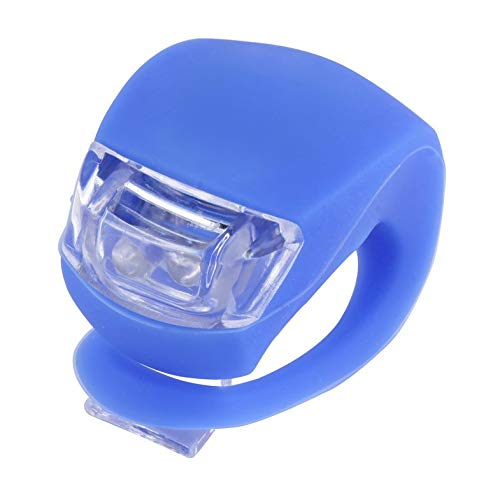 ghfcffdghrdshdfh LED Bicycle Bike Cycling Silicone Head Front Rear Wheel Safety Light Lamp