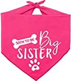 Pawskido Big Sister Dog Bandana,Reversible Triangle Bibs Pet Scarf