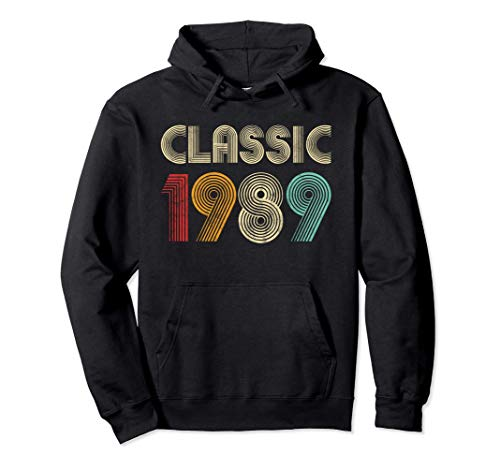 Clásico 1989 Vintage 31 cumpleaños Regalo Hombres Mujeres Sudadera con Capucha