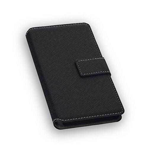 Hochwertiges Bookstyle Handytasche Flip Hülle schwarz für