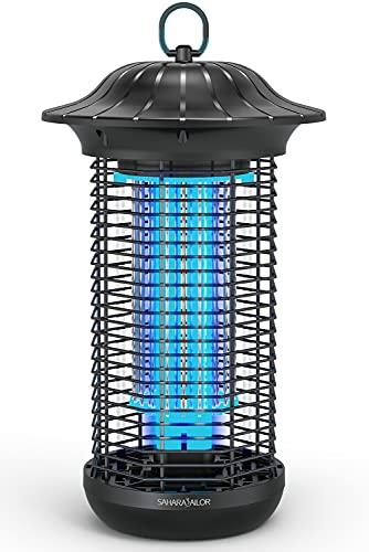 Sahara Sailor Elektrischer Insektenvernichter,4000V Elektrisch Insekten Mückenfalle,18W Fliegenfalle Mückenschutzlampe,Effektive Reichweite 90 m²,Keine Giftigen für Innen und Aussen Gärten (20w)