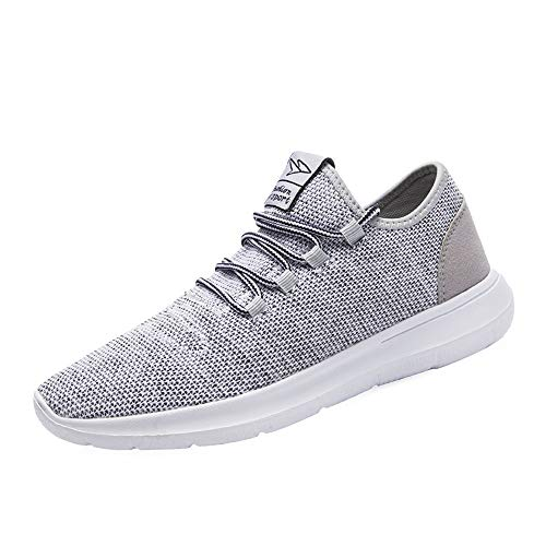Srenket Mens Casual Athletic Sneakers Comfortable Running Shoes Light Tennis Zapatos Footwear for Men Walking Workout , 118gray, 10