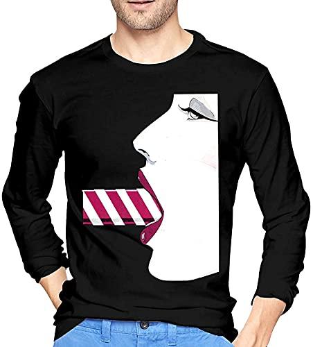 Patrick Nagel Mens manica lunga t-shirt nero estate viaggio 1 XXL