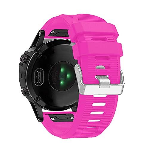 AISPORTS Correa de Reloj de Ajuste Rápido de 26mm Compatible con Garmin Fenix 3 Correa de Silicona, Correa de Repuesto para Garmin Fenix 6X/Fenix 6X Pro/Fenix 5X/Fenix 5X Plus/Fenix 3/Fenix 3 HR