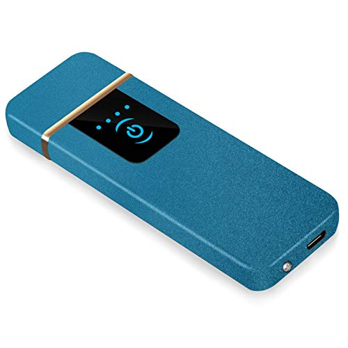 RiverMolars Y08 Encendedor Eléctrico, Mechero Recargable USB, Pantalla Táctil, a Prueba de...