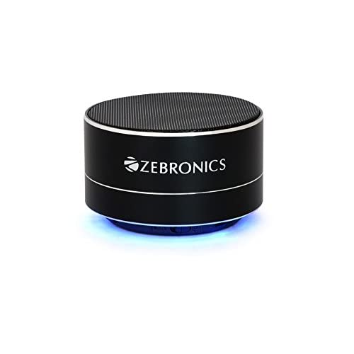 Zebronics ZEB-NOBLE Portable Bluetooth wireless Speaker with built in FM   Mic (Black)