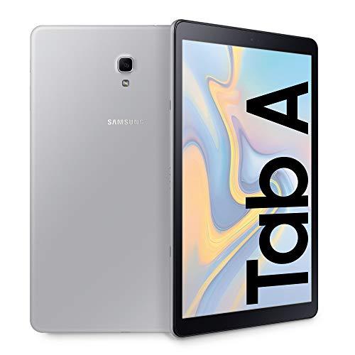 "SAMSUNG Galaxy Tab A 10.5, Tablet, Display 10.5"" WUXGA, 32 GB Espandibili, RAM 3 GB, Batteria 7300 mAh, LTE, Android 9 Pie, Silver [Versione Italiana]"