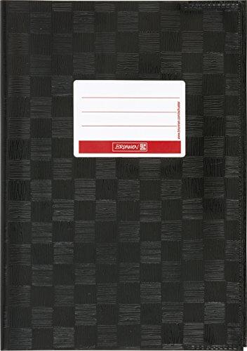 Brunnen 104052590 Hefthülle / Heftumschlag (A5, Folie, mit Namensschild) schwarz