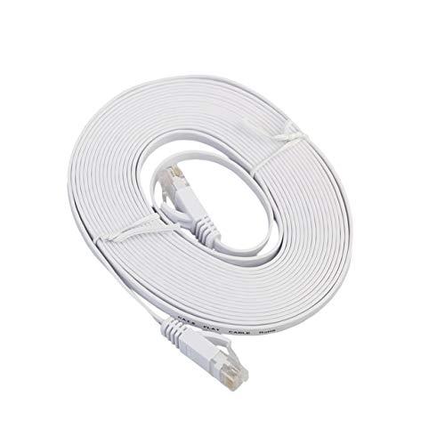 NewIncorrupt Cable LAN de Red Ethernet Plano CAT6e Cable de conexión de Cable Ethernet para computadora portátil de transmisión de Alta Velocidad para Oficina en casa