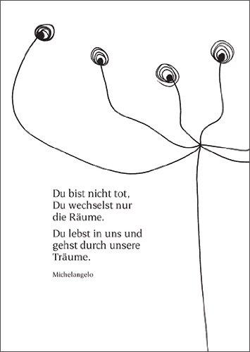 Helga Bühler 5X Moderne trouwkaart, trouwkaart, trouwkaart, hartelijk premium deelnamekaart om te condoleren bij sterfgeval voor achtergebleven in rouw