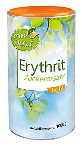 Kopp Vital Erythrit Zuckerersatz light   1000 g   100{13ae1e084deae1102e6fe605d71420eb92b6a07aac605cf67375b3b6f877d094} Erythrit   Hergestellt in der EU   zu Süßen von allen Süßspeisen und heißen Getränken