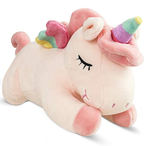 Unicorn Stuffed Animal for Girls – Silky Soft, Cuddly Pink Unicorn Plush Toy with Rainbow Wings That Your Kids Will Love Forever | Perfect Size to Take Anywhere, Just Under 12 inches