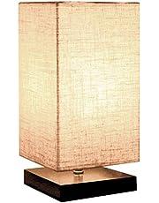 مصباح الطاولة الجانبية للسرير من سوفام، بنمط ياباني، مصباح طاولة المكتب الجانبية مع مظلة من القماش لغرف النوم والمعيشة وغرف المهاجع وديكور المنزل - مربعة الشكل
