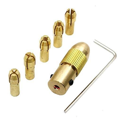 Lodenlli Mini Electric Drill Self-Tightening Drill Chuck Drill Chuck Set 0.5 To 3 Mm For Electric Drill 7 Pcs