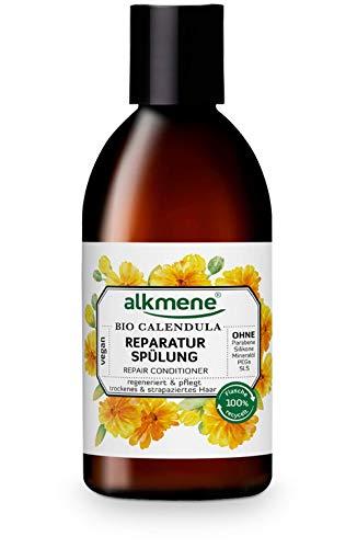 alkmene Reparatur Spülung mit Bio Calendula - Haarspülung für trockenes & strapaziertes Haar - vegane Haar Spülung ohne Silikon, Parabene, Mineralöl, SLS & SLES - Haarpflege (1x 250 ml)
