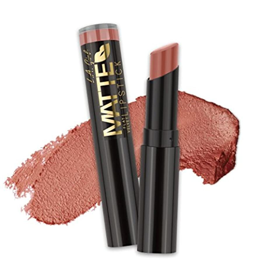 文言感じネット(3 Pack) L.A. GIRL Matte Flat Velvet Lipstick - Snuggle (並行輸入品)
