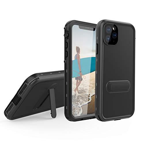 EUDTH iPhone 11 PRO Max Cover Impermeabile,[IP68 Certificato] Antiurto Antineve Antipolvere con Protezione dello Schermo Custodia Full Body Protezione Caso per iPhone 11 PRO Max 6.5'-Nero