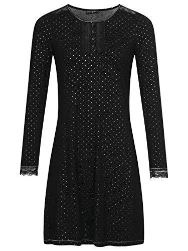 Vive Maria Glamour Night Nightdress Black, Größe:XL