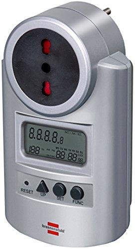 Brennenstuhl 1506605 elektrische energiemeter PM 231E Primera-Line stopcontact (10A / 16A) en Italiaanse stekker voor het meten van het stroomverbruik van het aangesloten elektrische apparaat