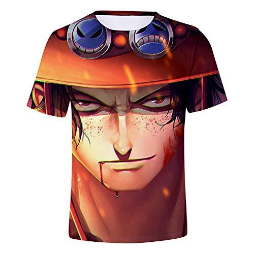 Zcbm Maillot De Cyclisme Respirant Manches Courtes 3D Impression One Piece Portgas·D· Ace Graphique Sweat-Shirts Respirants Vêtements Sportswear,XXL