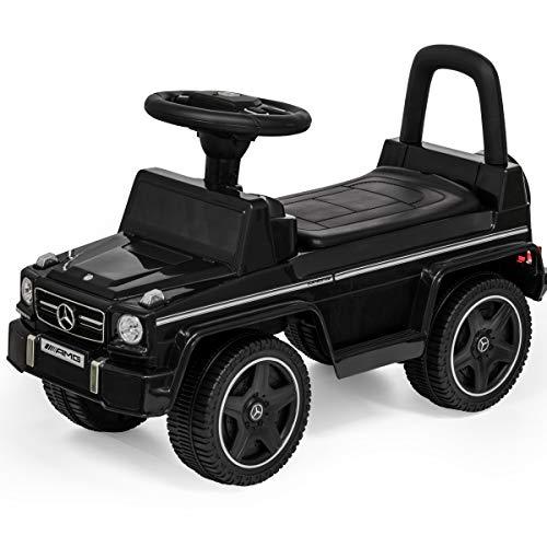 メルセデスベンツ公認 乗用玩具 [G63 AMG] 【ブラック】 足けり 転倒防止ストッパー 背もたれ シート開閉 ...