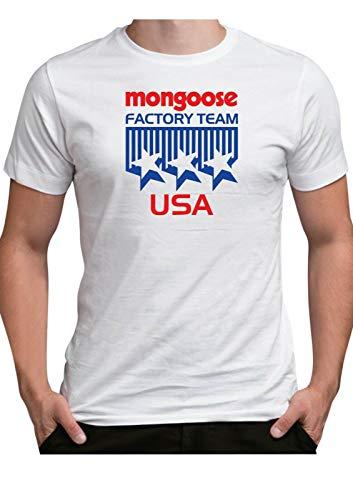Vintage BMX Mongoose Team Geïnspireerd T Shirt 1980s Klassieke Factory Race Bike USA Retro Logo Fiets 80's
