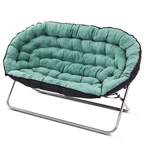 NBVCX Möbel Dekoration Lazy Couch Doppel Tatami Einfach Lässig Schlafzimmer Wohnzimmer Kleine Wohnung Einzelklappstoff Kleines Schlafsofa Weich und bequem (Farbe: ROT) (Farbe: Grün)