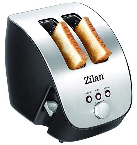 Edelstahl Toaster | 2 Scheiben Toaster | Design Toaster | Schräg Ttoaster | Toastautomat | Röstautomat | 1000 Watt | Edelstahl-Gehäuse | Stufenlos einstellbar | INOX-Design |