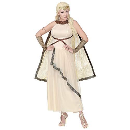 Exquisita Toga Vestido de la Bella Helena de Troya para Dama/Beis en Talla XL (ES 48/50) / Exquisito Disfraz Romana para Mujer/Mejor eleccin para Carnaval y Festivales