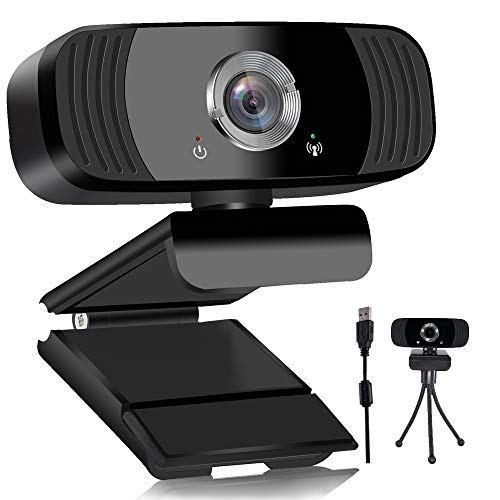 1080P HD Streaming Webcam with Microphone, USB Desktop Laptop Computer Web Camera (Plug and Play) fo