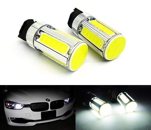 Lot de 2 ampoules blanches PW24W PWY24W COB LED pour feux de position, feux de circulation diurnes DRL pour A3 A4 A5 C4 208 GLK Golf