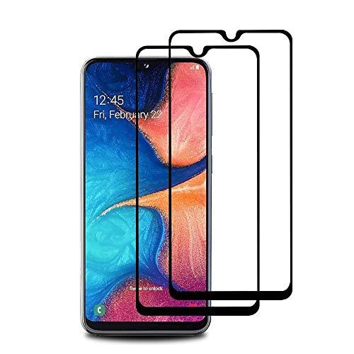【2021年最新バージョン】Galaxy A30 ガラスフイルム SCV43 フィルム【日本製素材旭硝子製】最大硬度9H/高透過率/3D Touch対応/自動吸着/3Dラウンドエッジ加工/指紋防止/気泡ゼロ/貼り付け簡単【2枚セット】Galaxy A30 SCV43 強化ガラス(A30/ブラック)