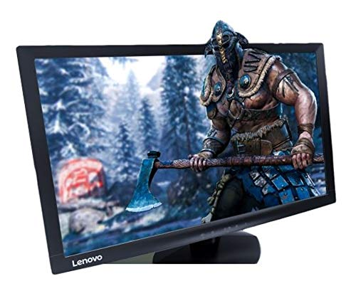 Lenovo 23.6-inch Near Edgeless Monitor with LED Backlit, TN Panel, VGA and HDMI Ports, TUV Certified Eye Comfort, Raven Black (D24-10)