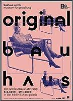 ポスター バウハウス Original frau mit maske 額装品 アルミ製ベーシックフレーム(ブラック)