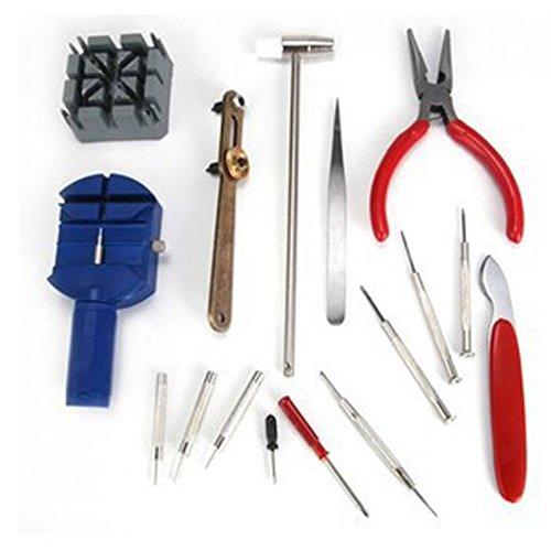 Seguryy–Kit di riparazione orologi ,16in 1cinturino da polso regolare strumento di rimozione set della barra della molla Fix