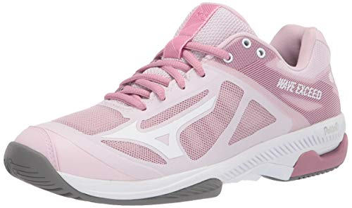 Mizuno womens Court Tennis Shoe, Pink-white, 9 US