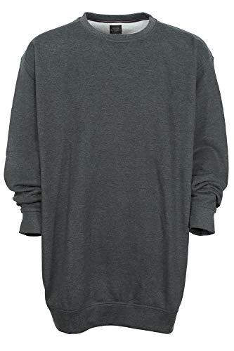 Kitaro Sweatshirt Herren Baumwolle Rundhals Basic Extra Lang Tall, Farbe:anthrazit, Herrengrößen:XXT